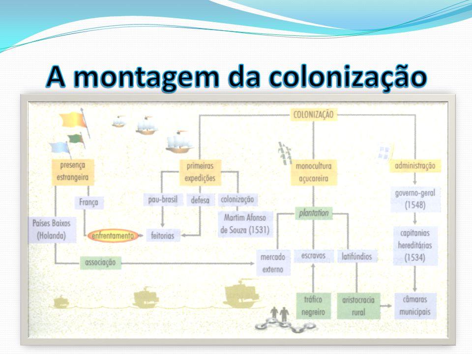 A montagem da colonização