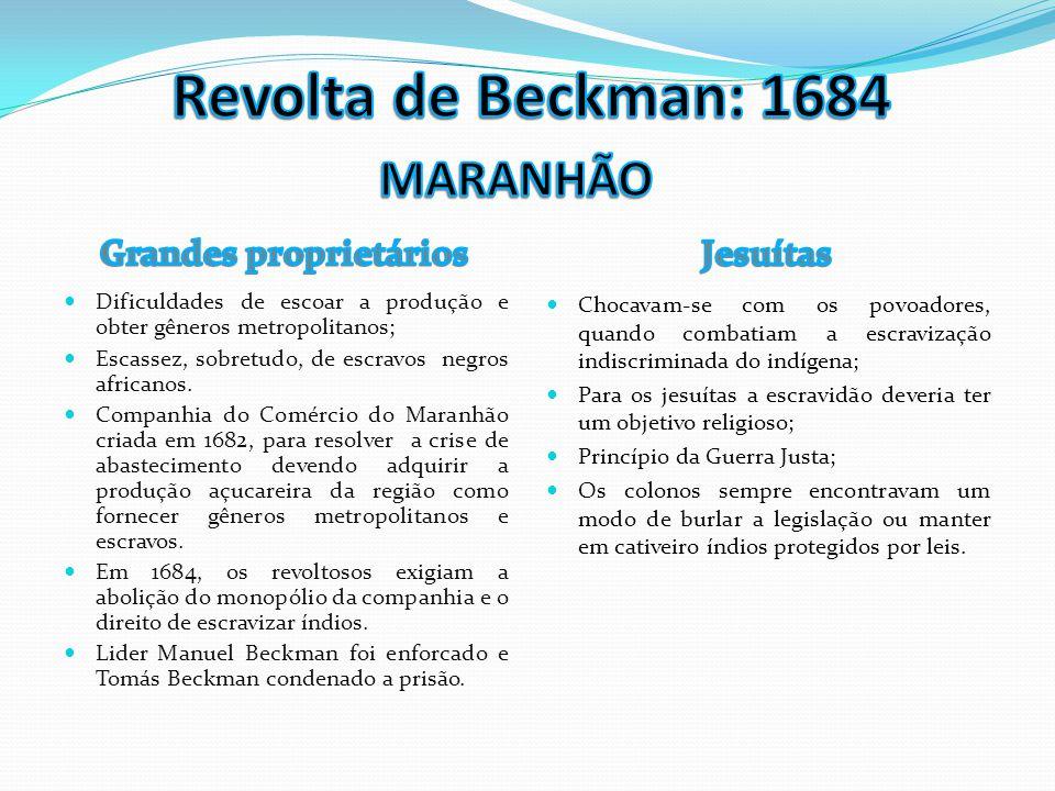 Revolta de Beckman: 1684 MARANHÃO