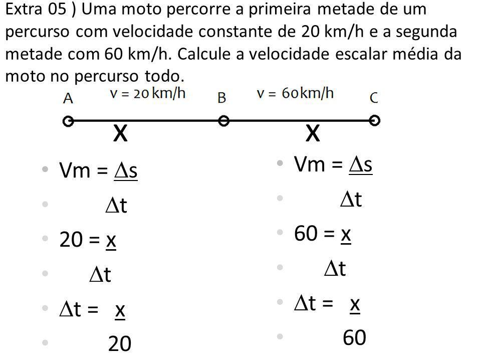 x x Vm = s Vm = s t t 60 = x 20 = x t = x t = x 60 20