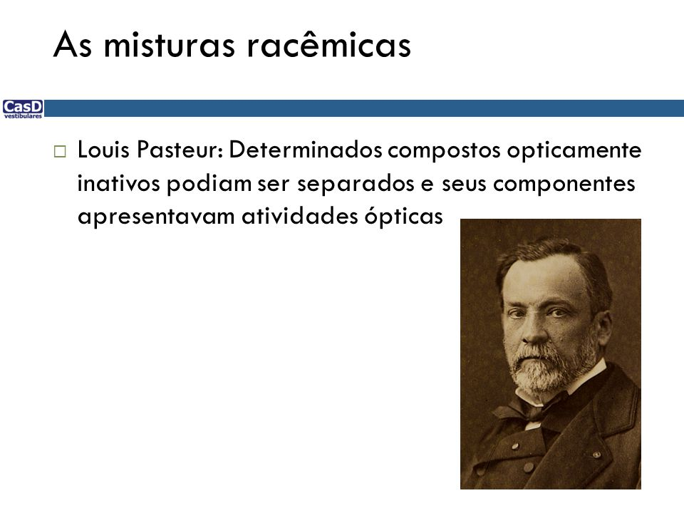 As misturas racêmicas