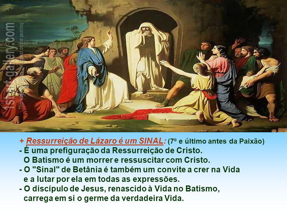 + Ressurreição de Lázaro é um SINAL: (7º e último antes da Paixão)