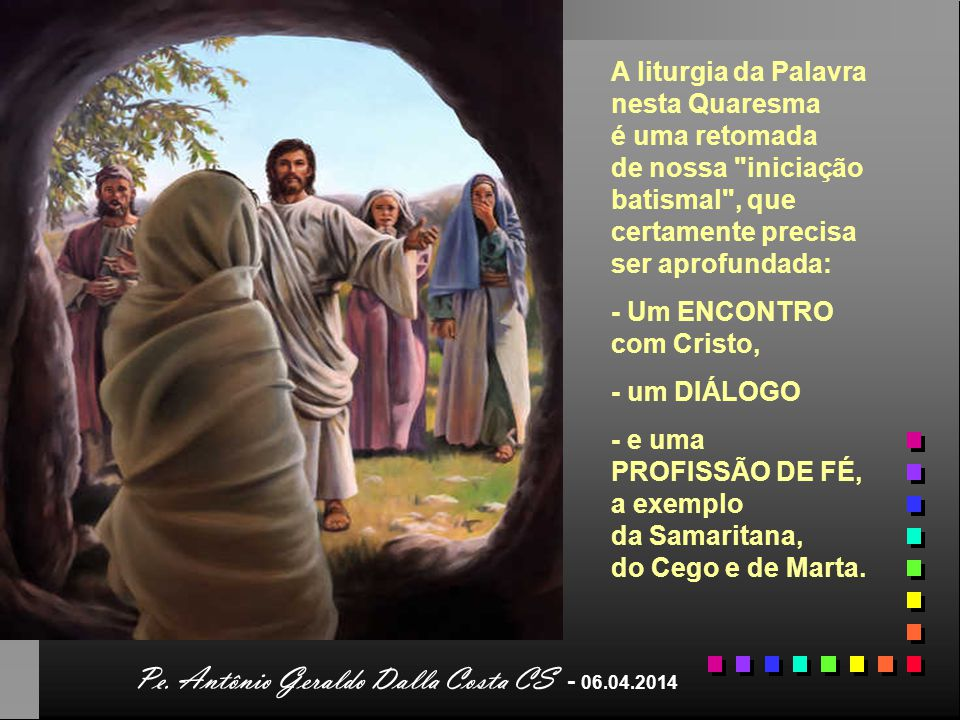 Pe. Antônio Geraldo Dalla Costa CS - 06.04.2014