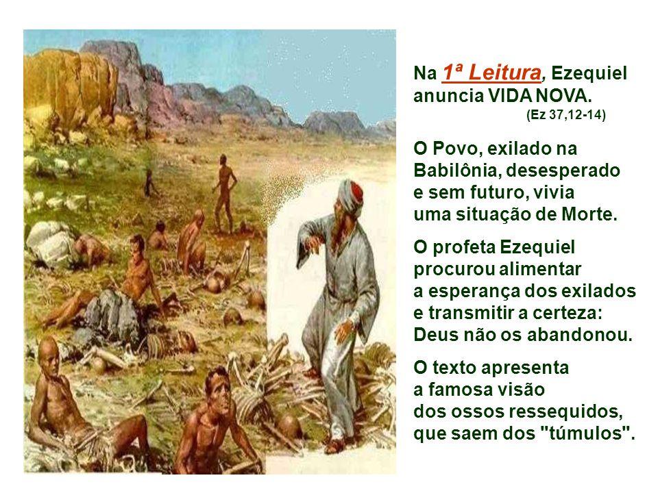 Na 1ª Leitura, Ezequiel anuncia VIDA NOVA.