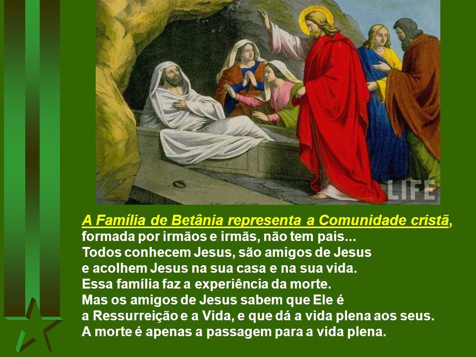A Família de Betânia representa a Comunidade cristã,