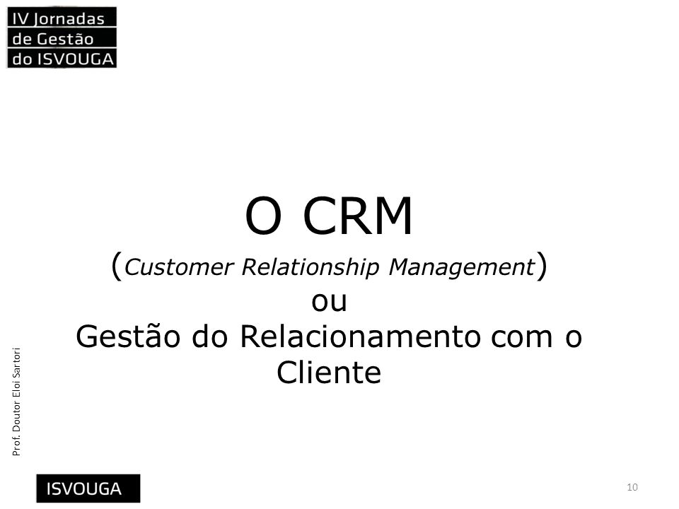 O CRM (Customer Relationship Management) ou Gestão do Relacionamento com o Cliente