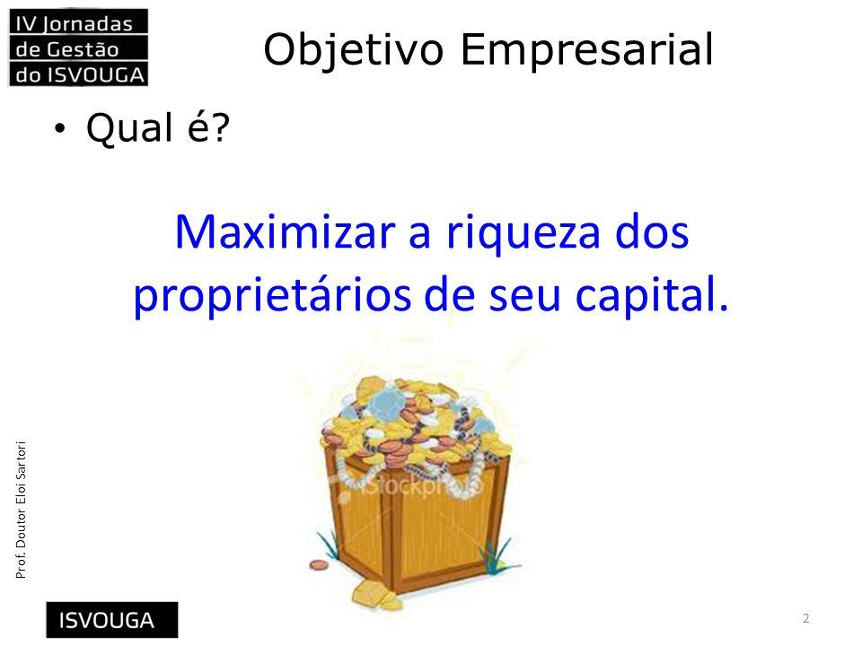 Maximizar a riqueza dos proprietários de seu capital.