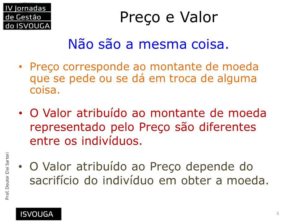 Preço e Valor Não são a mesma coisa.