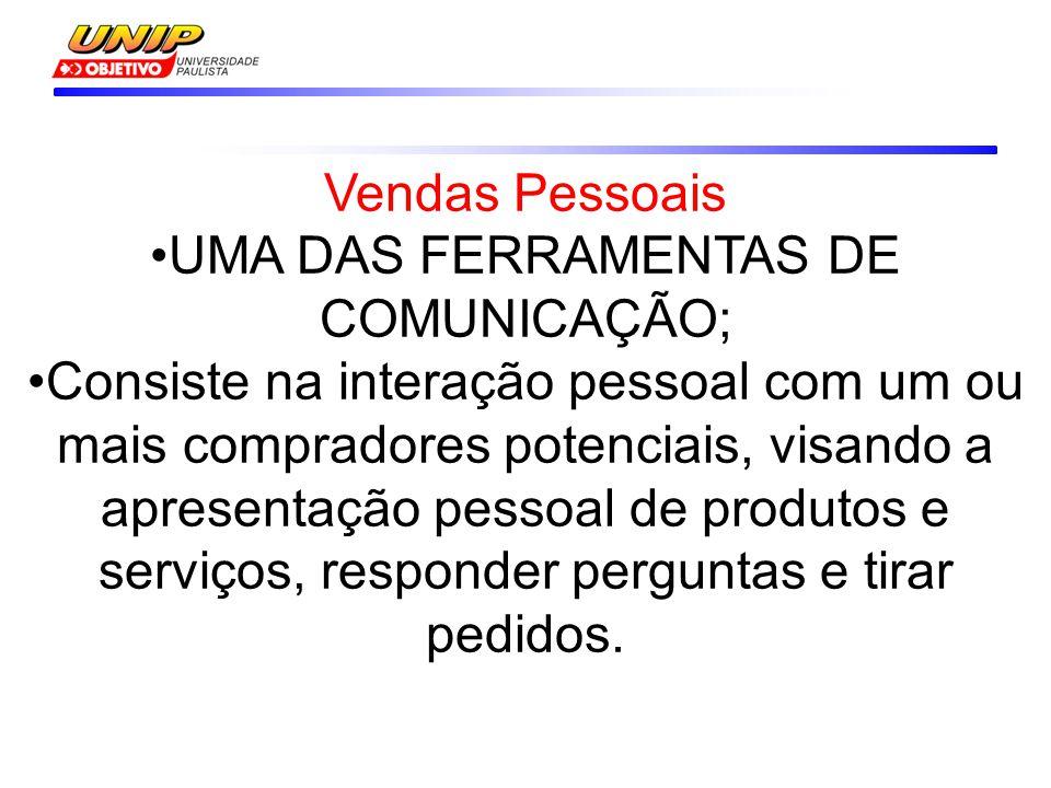 UMA DAS FERRAMENTAS DE COMUNICAÇÃO;