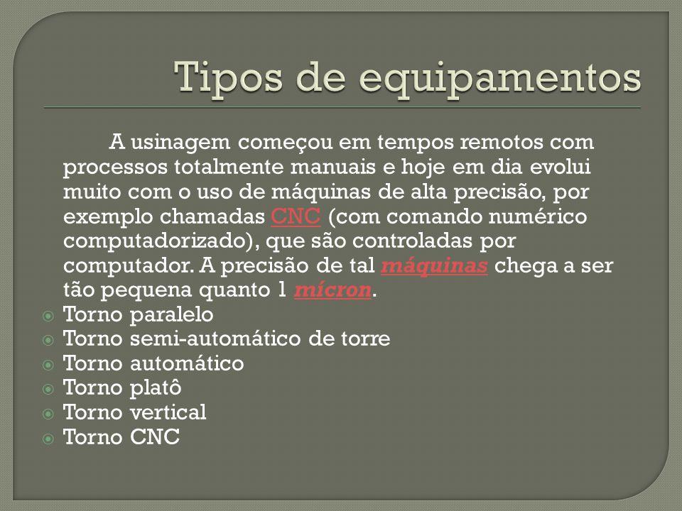 Tipos de equipamentos