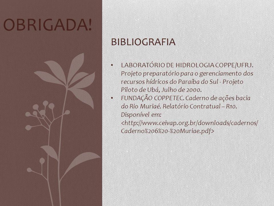 Obrigada! BIBLIOGRAFIA