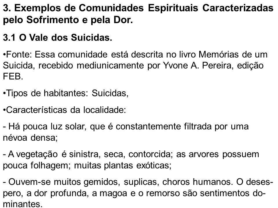 3. Exemplos de Comunidades Espirituais Caracterizadas pelo Sofrimento e pela Dor.