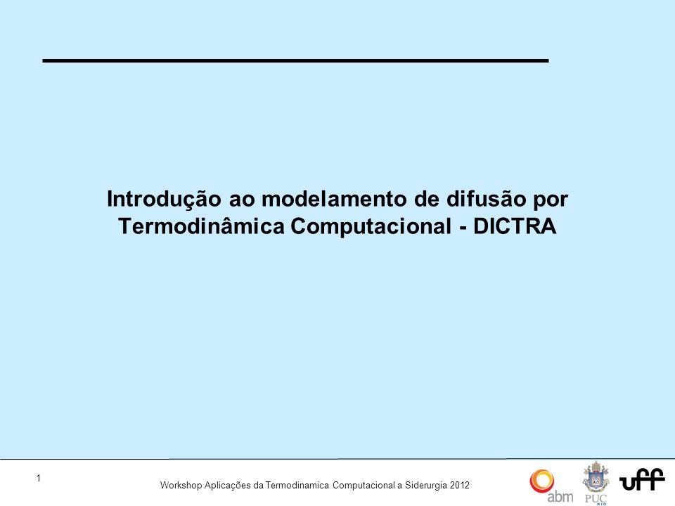 Introdução ao modelamento de difusão por Termodinâmica Computacional - DICTRA