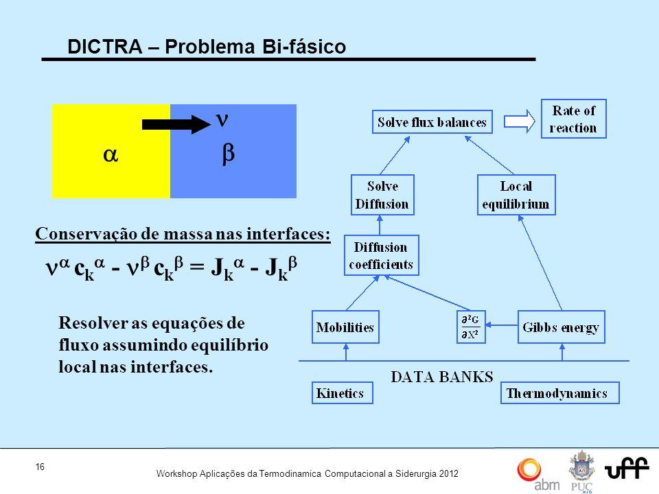 DICTRA – Problema Bi-fásico