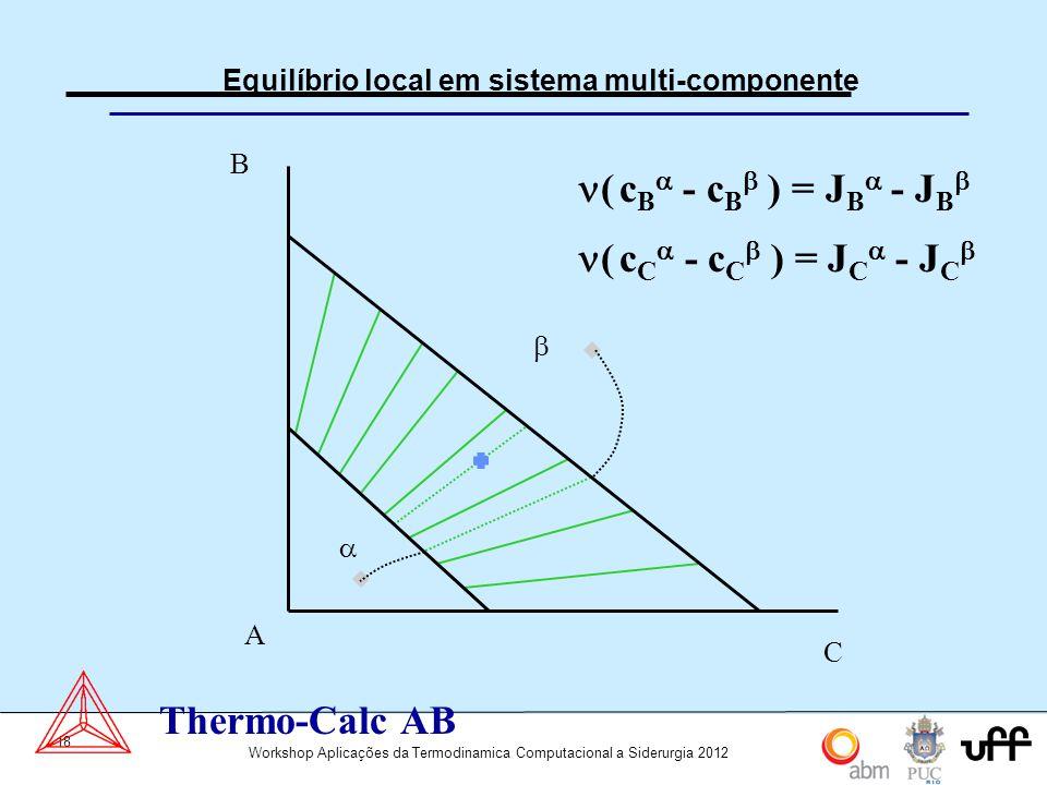 Equilíbrio local em sistema multi-componente
