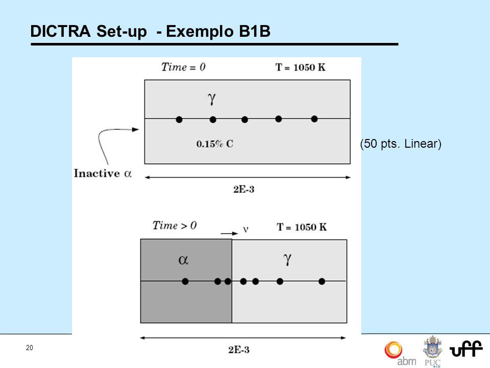 DICTRA Set-up - Exemplo B1B