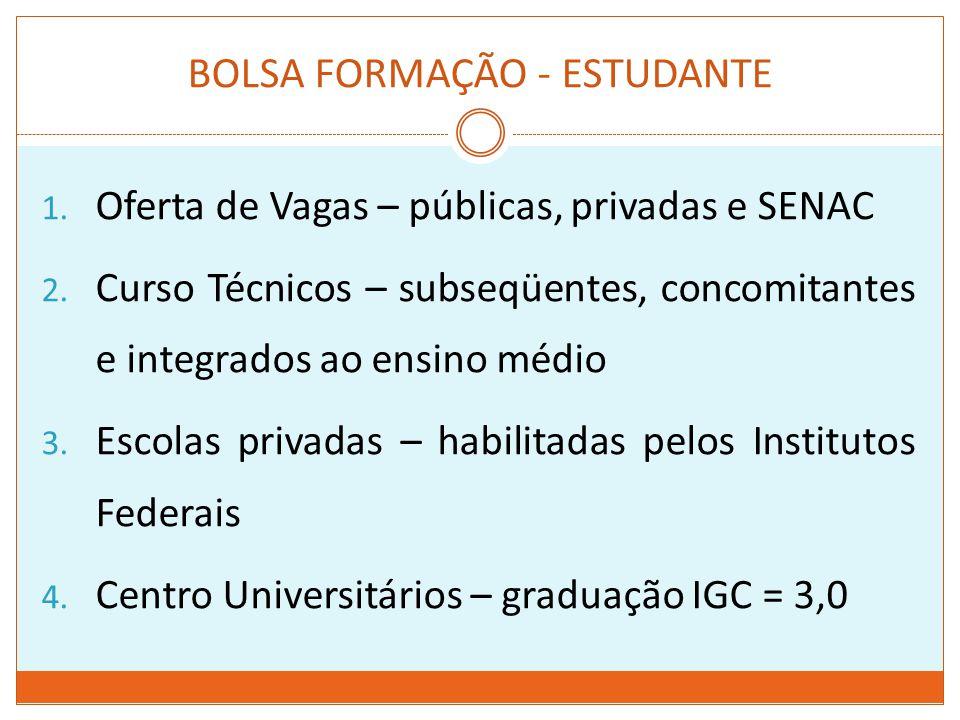 BOLSA FORMAÇÃO - ESTUDANTE