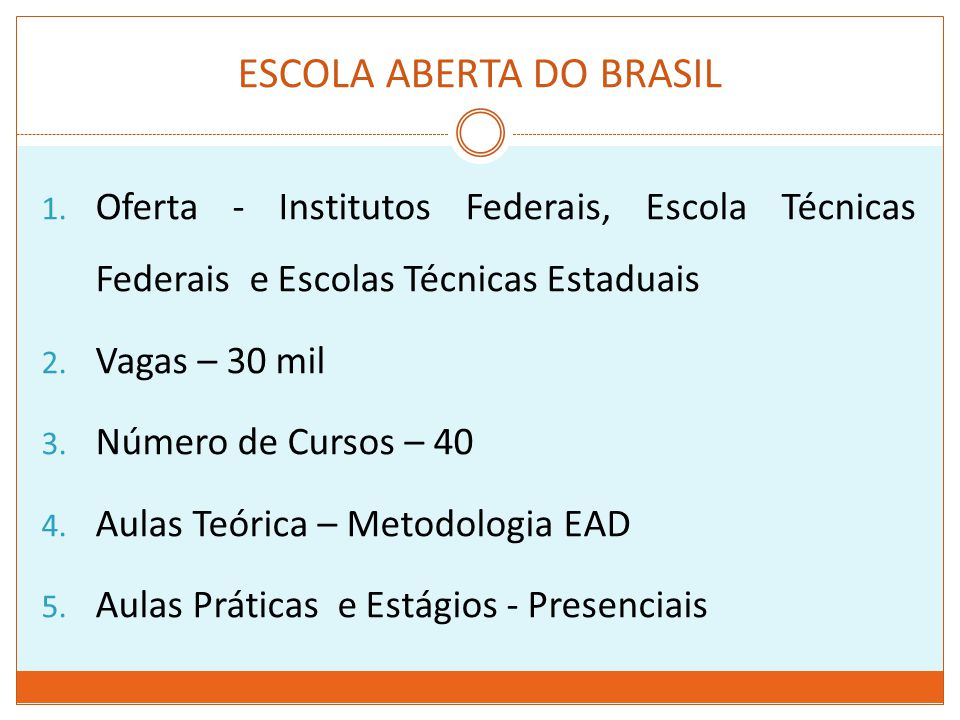 ESCOLA ABERTA DO BRASIL