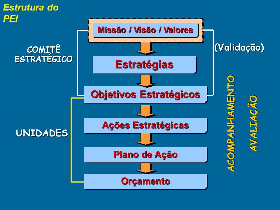 Missão / Visão / Valores Objetivos Estratégicos