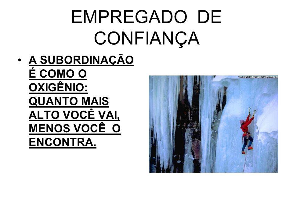 EMPREGADO DE CONFIANÇA