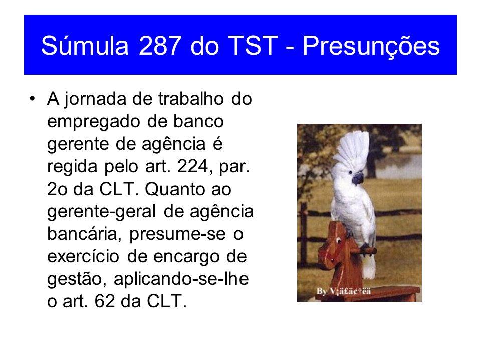 Súmula 287 do TST - Presunções