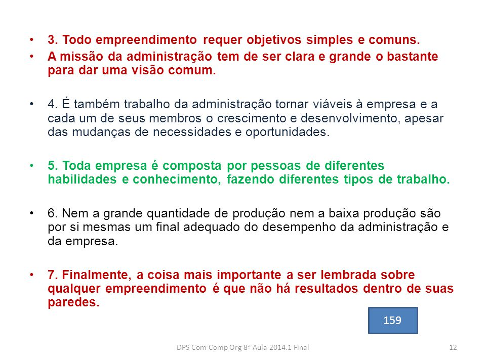 DPS Com Comp Org 8ª Aula 2014.1 Final