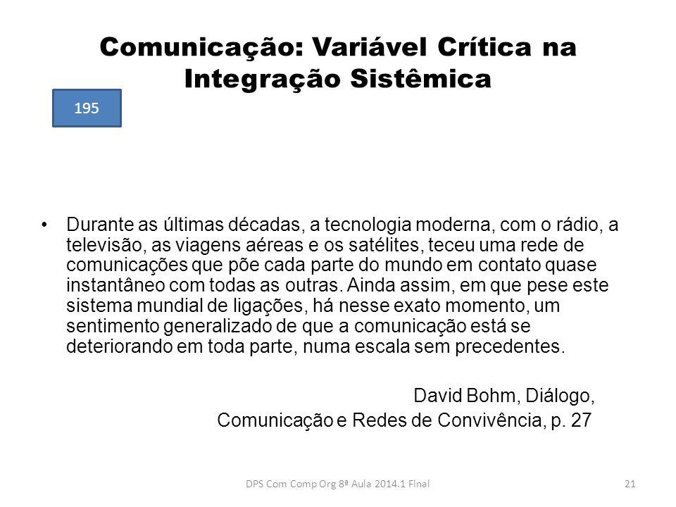 Comunicação: Variável Crítica na Integração Sistêmica