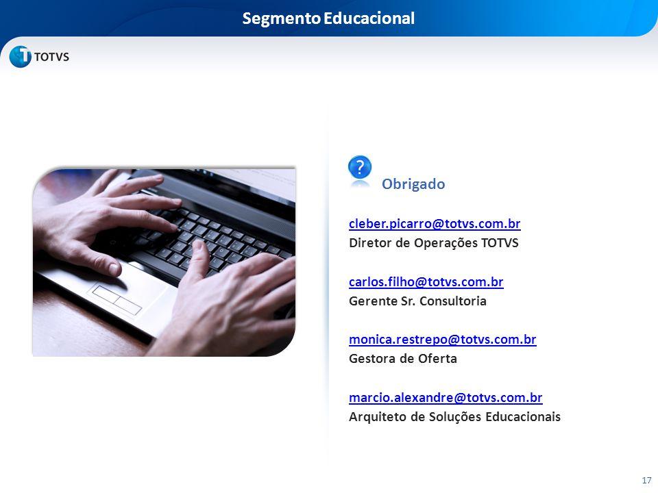 Segmento Educacional Obrigado cleber.picarro@totvs.com.br