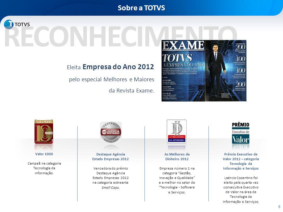 Destaque Agência Estado Empresas 2012 As Melhores da Dinheiro 2012
