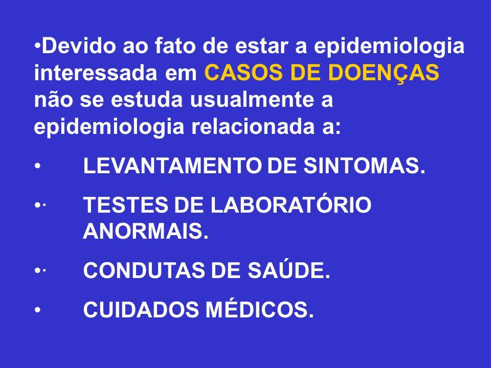 Devido ao fato de estar a epidemiologia interessada em CASOS DE DOENÇAS não se estuda usualmente a epidemiologia relacionada a:
