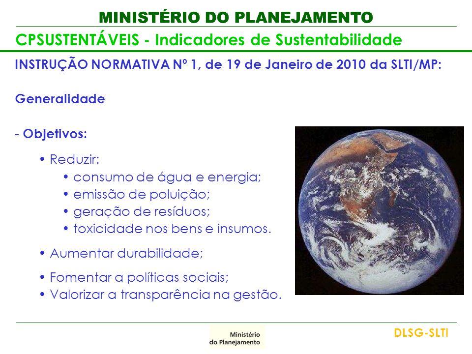 CPSUSTENTÁVEIS - Indicadores de Sustentabilidade
