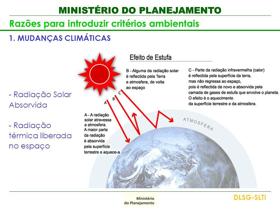 Razões para introduzir critérios ambientais