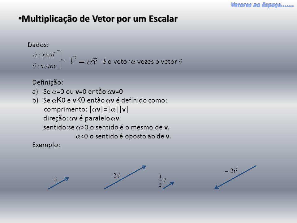 Multiplicação de Vetor por um Escalar