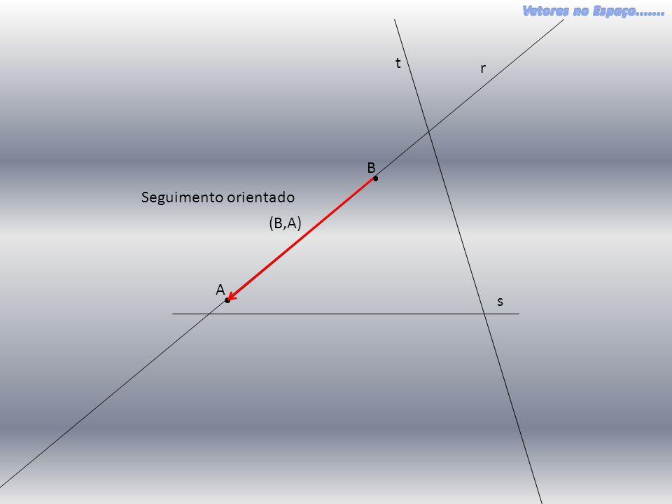 t r B Seguimento orientado (B,A) A s