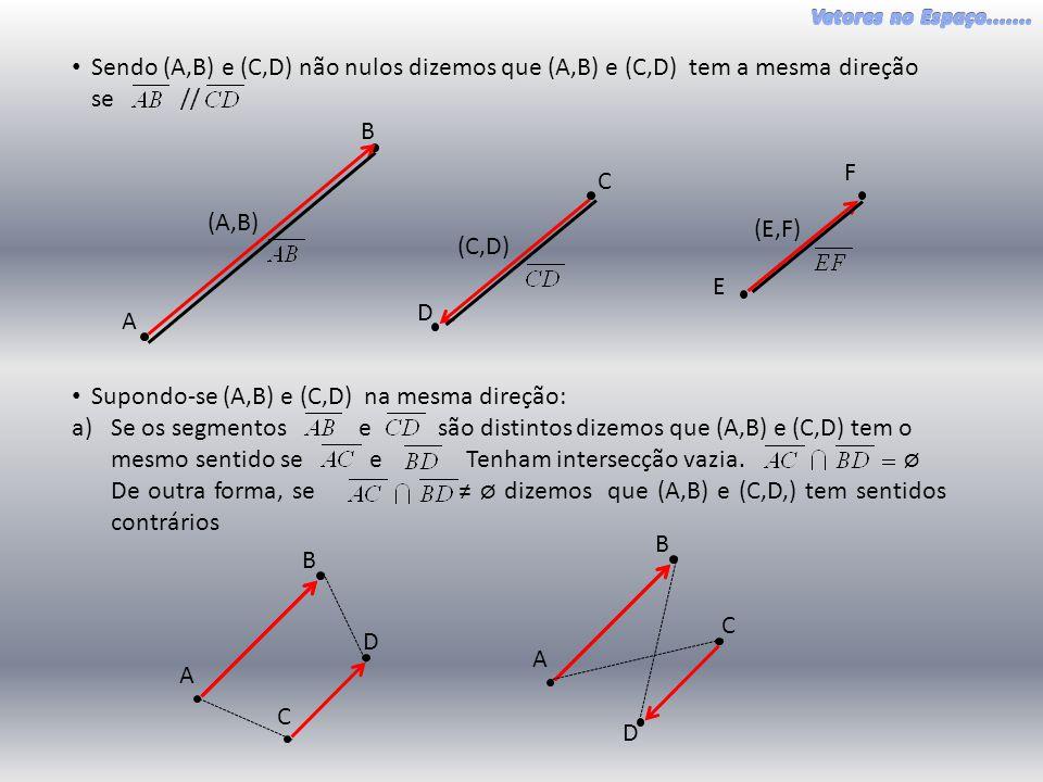 Sendo (A,B) e (C,D) não nulos dizemos que (A,B) e (C,D) tem a mesma direção se //