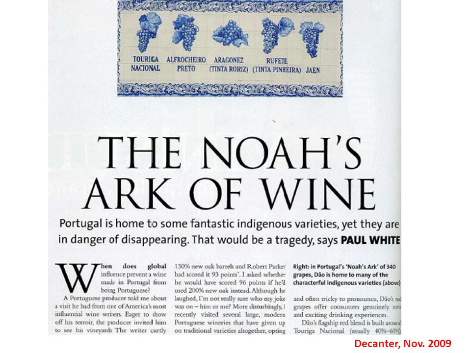 Decanter, Nov. 2009