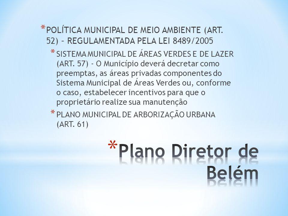 POLÍTICA MUNICIPAL DE MEIO AMBIENTE (ART