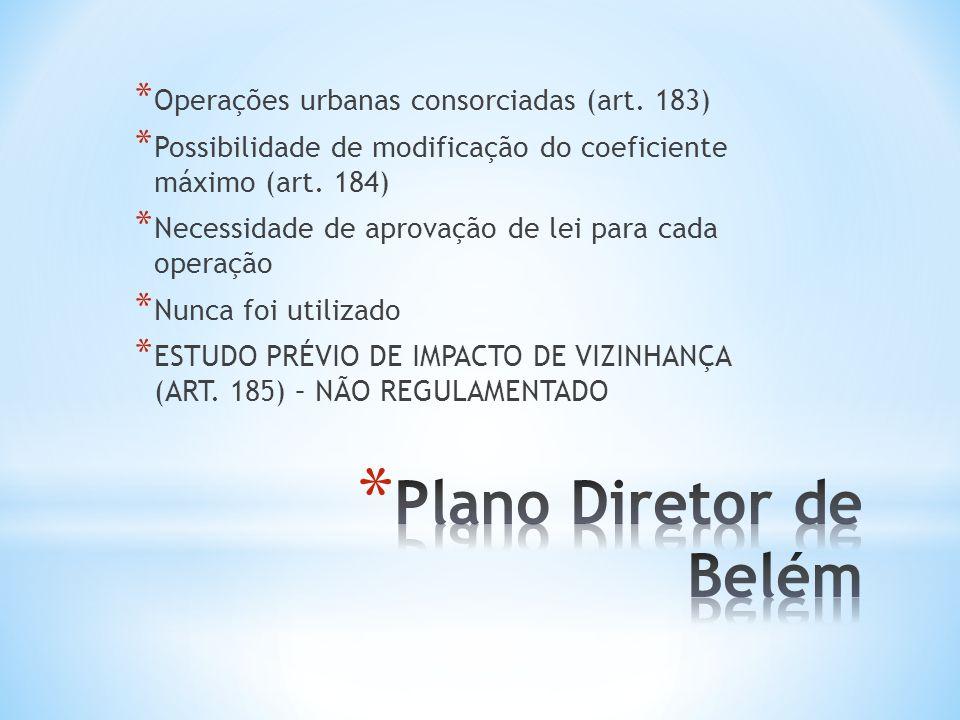 Plano Diretor de Belém Operações urbanas consorciadas (art. 183)