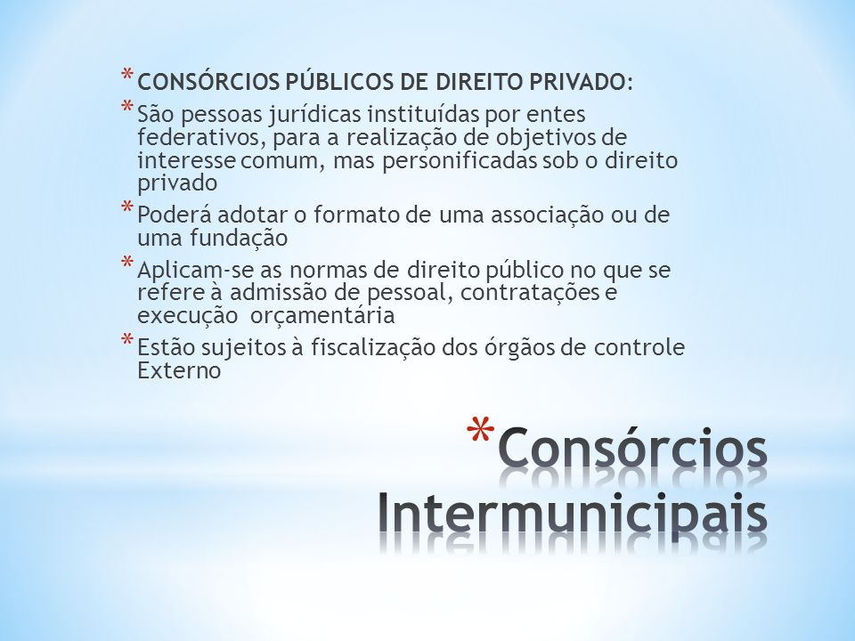 Consórcios Intermunicipais