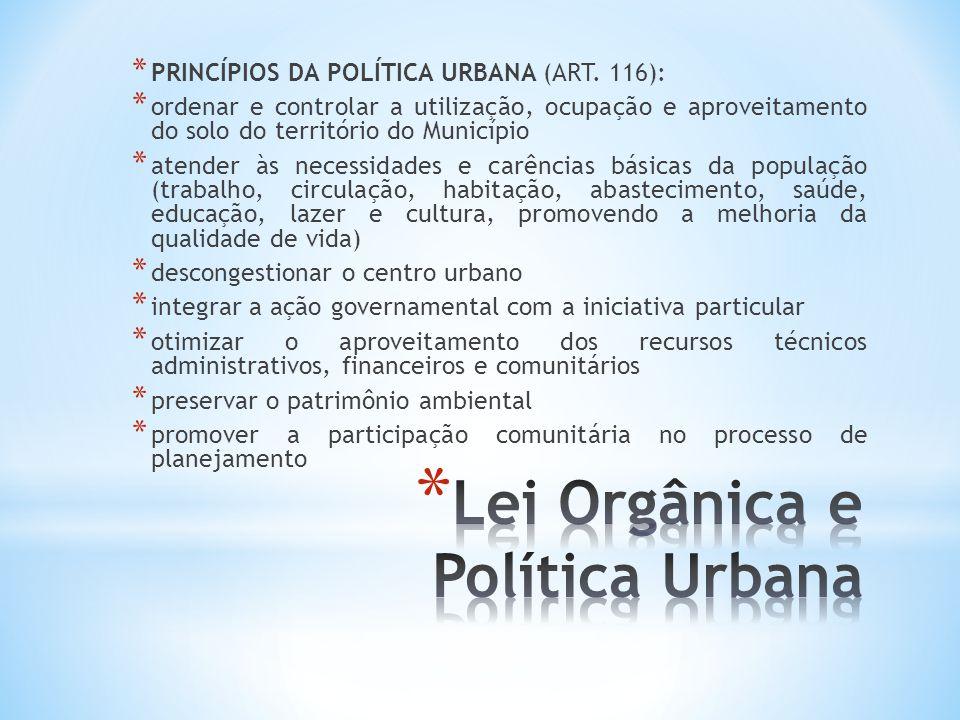 Lei Orgânica e Política Urbana