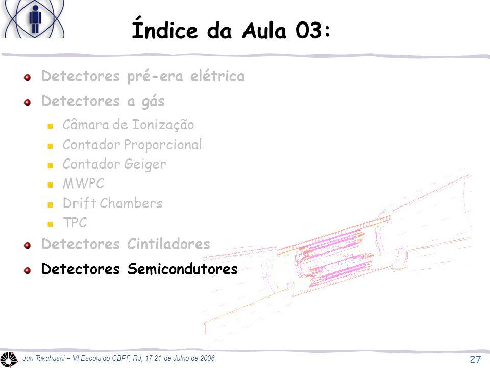Índice da Aula 03: Detectores pré-era elétrica Detectores a gás