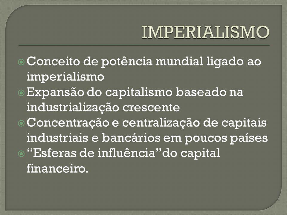 IMPERIALISMO Conceito de potência mundial ligado ao imperialismo