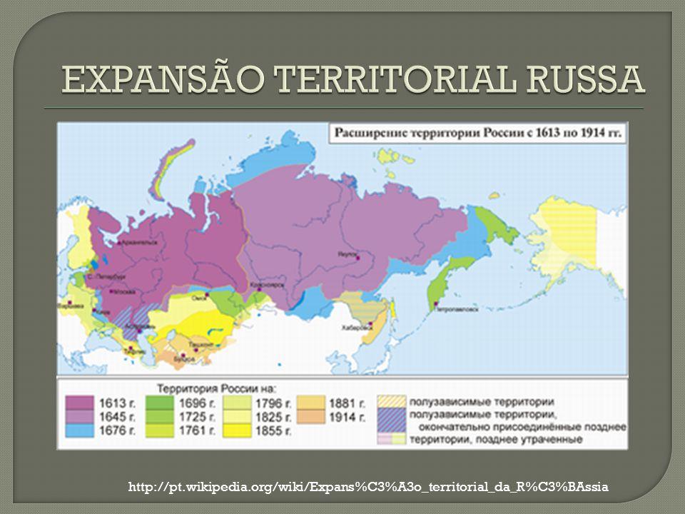 EXPANSÃO TERRITORIAL RUSSA