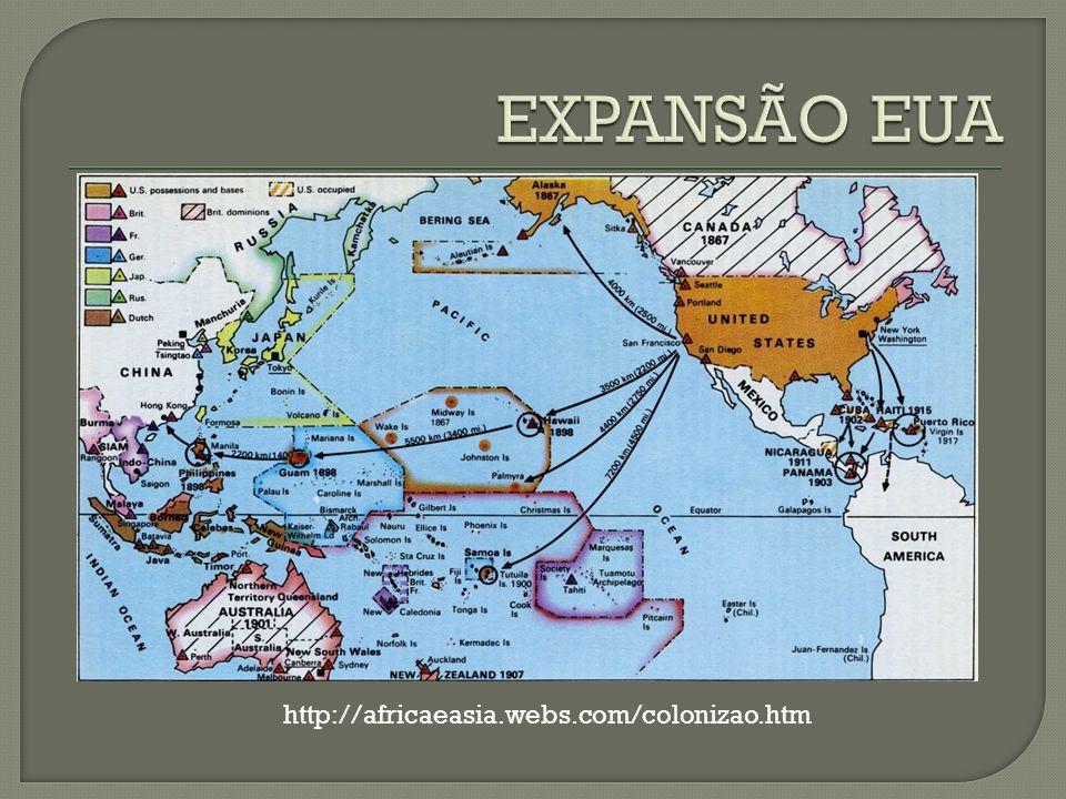 EXPANSÃO EUA http://africaeasia.webs.com/colonizao.htm