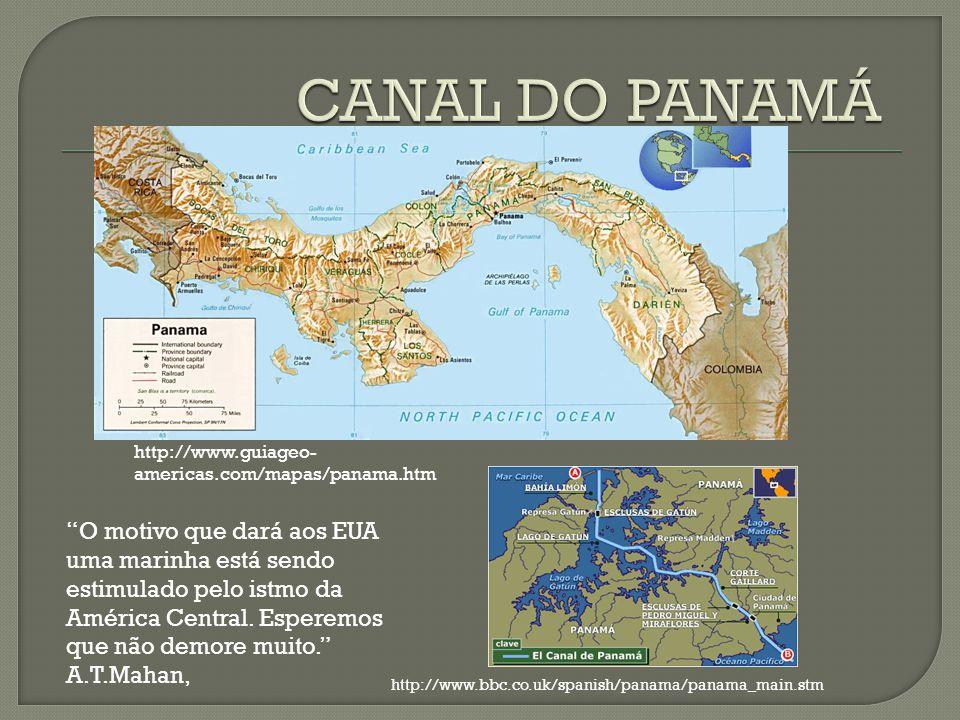 CANAL DO PANAMÁ http://www.guiageo-americas.com/mapas/panama.htm.