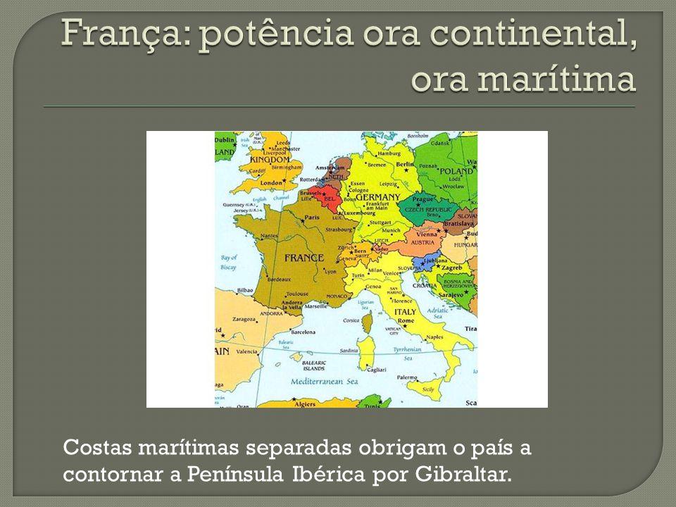 França: potência ora continental, ora marítima