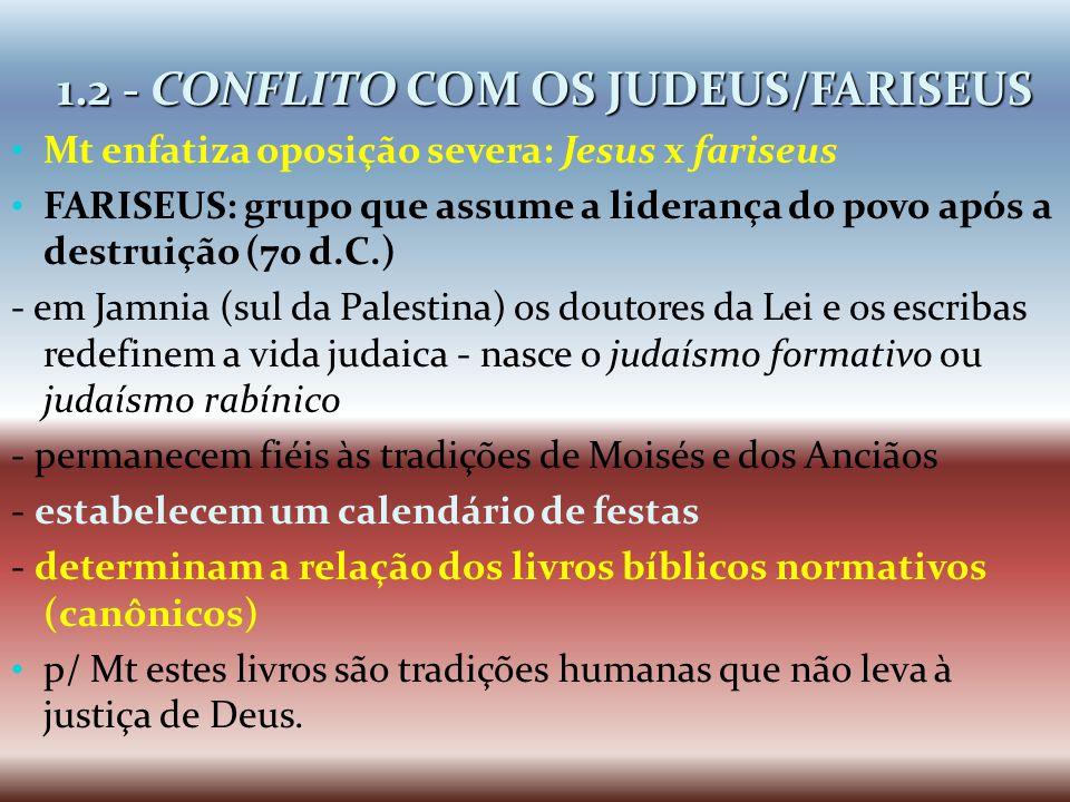 1.2 - CONFLITO COM OS JUDEUS/FARISEUS