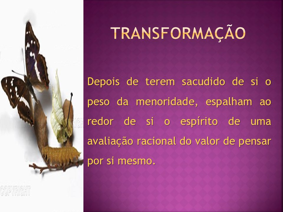 TRANSFORMAÇÃO