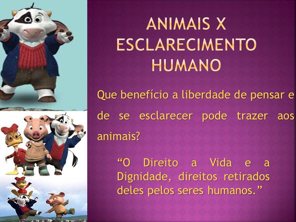 Animais x esclarecimento humano