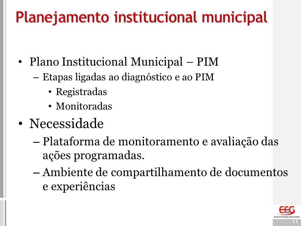 Planejamento institucional municipal