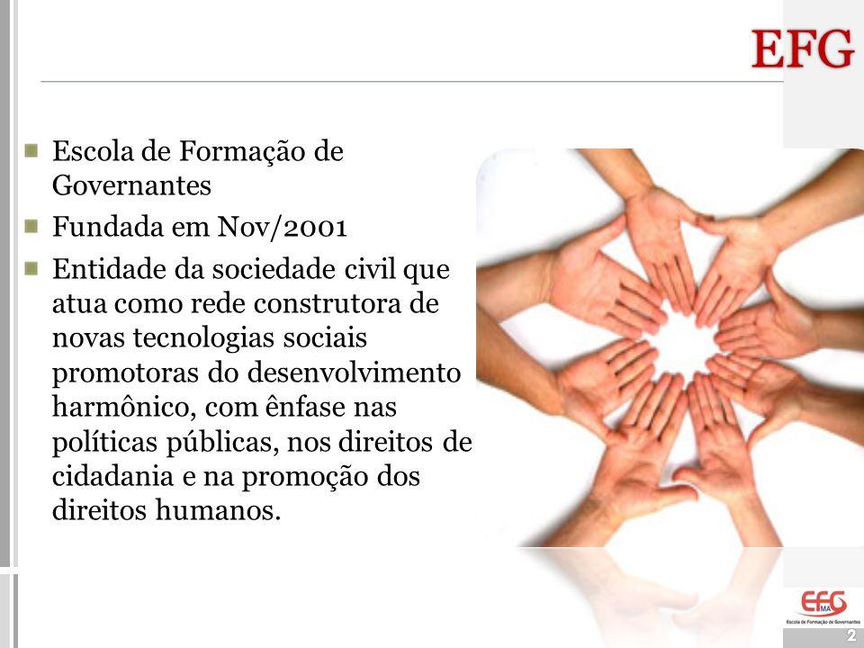 EFG Escola de Formação de Governantes Fundada em Nov/2001